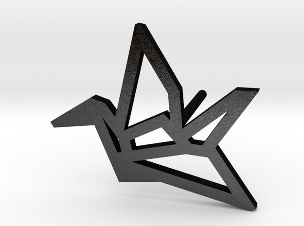 Earring Crane Left metal in Matte Black Steel