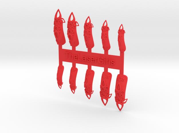 Castle Nails (Size 4)  3d printed