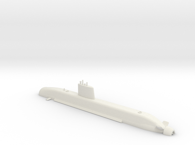 1/700 Barracuda Class Submarine (Waterline) in White Natural Versatile Plastic