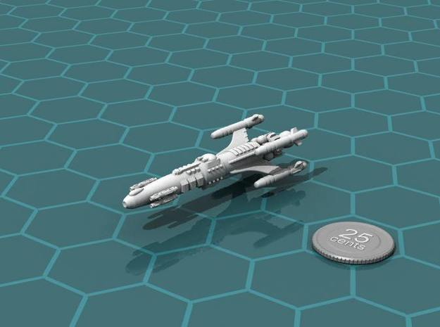 Privateer Impala Class Cruiser in White Natural Versatile Plastic