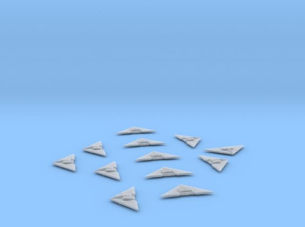 Raider Delta-V Light Fighter x12 in Smooth Fine Detail Plastic