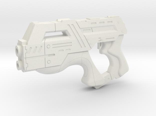Mass Effect 1:3 M-6 Carnifex Heavy Pistol in White Natural Versatile Plastic