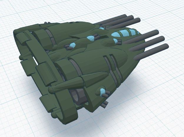 BR-4D Super Heavy - Devastator Class 3d printed Tier 3 Heavy Assault Ship REGULATION XIA SPEC