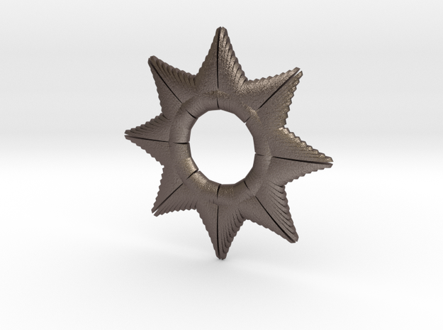 Star Of A Millon in Polished Bronzed Silver Steel