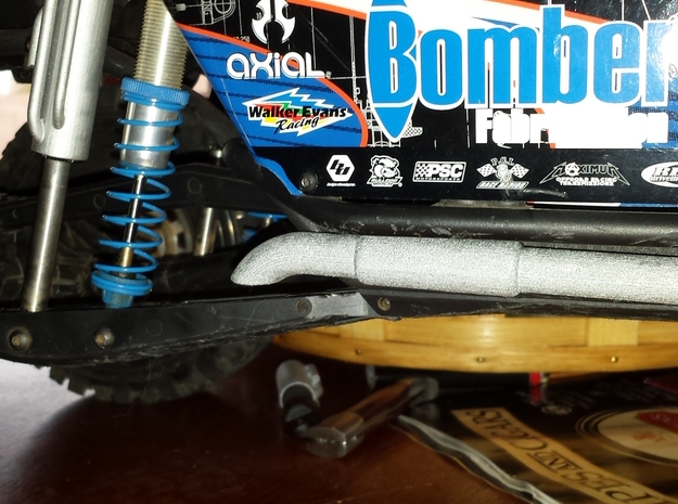BOMBER RC4WD KING 120mm FAUX BY-PASS SLEEVE DRIVER in White Strong & Flexible