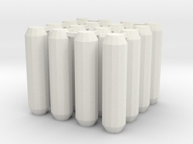 6mm Dowels / Pegs  in White Strong & Flexible