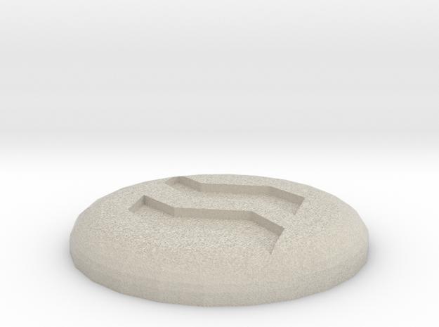 Earth Rune in Sandstone