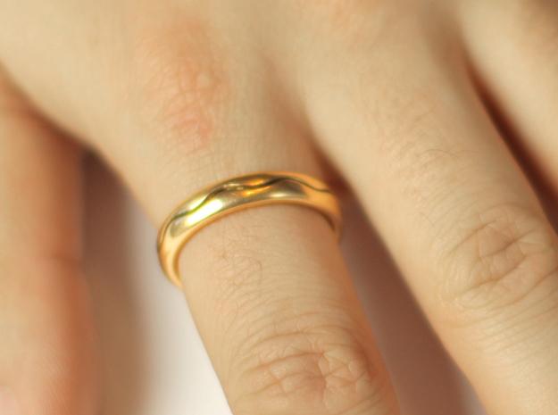 Ring CS03-ellipse in Polished Bronze