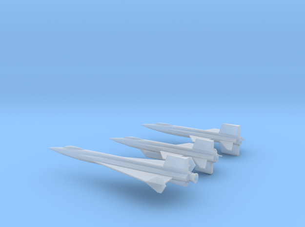 1/285 X-15 X-15A2  X-15 DELTA in Smooth Fine Detail Plastic