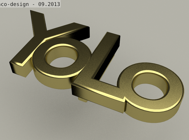 yolo belt-buckle 3d printed