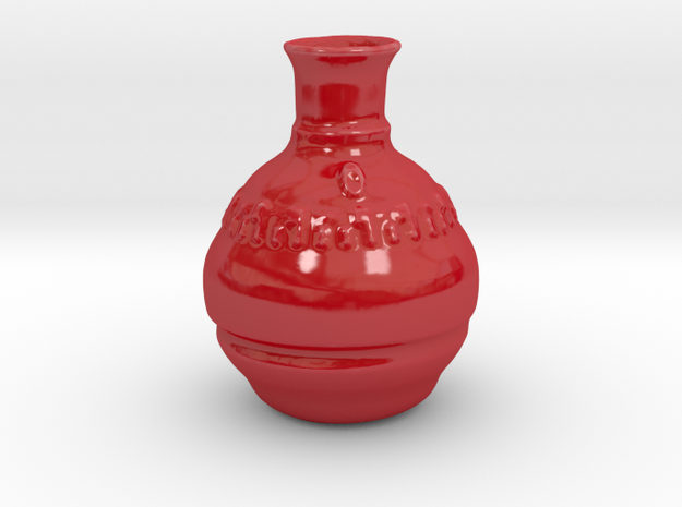 Smallish Vase v.2 in Gloss Red Porcelain