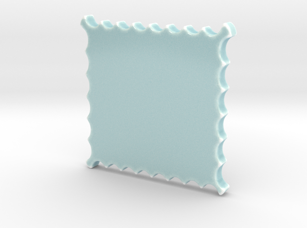 Celadon Selfie Stamp Wall Frame  in Gloss Celadon Green Porcelain