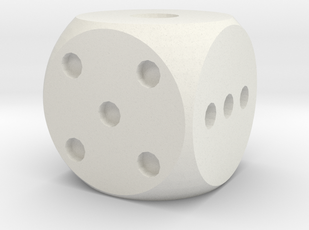 Balanced Dice v2 in White Strong & Flexible