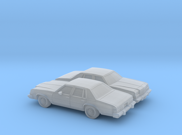1/160 2X 1977-78 Buick Le Sabre Sedan in Smooth Fine Detail Plastic