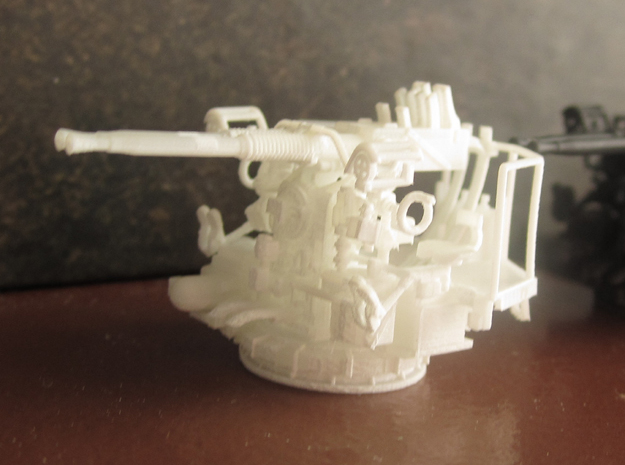 1/100 40mm Bofors Twin Mount USN WWII ships FUD in Frosted Ultra Detail