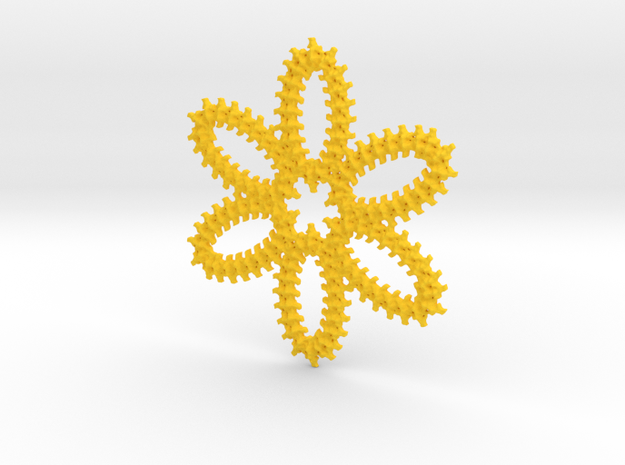vertebrae  daisy in Yellow Strong & Flexible Polished
