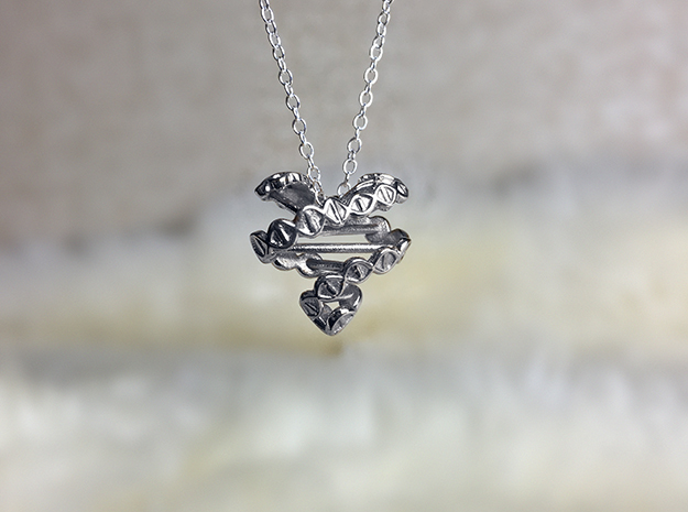 DNA Heart Pendant