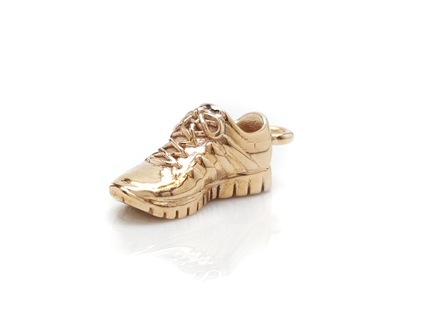 Running Shoe Charm  in Polished Bronze