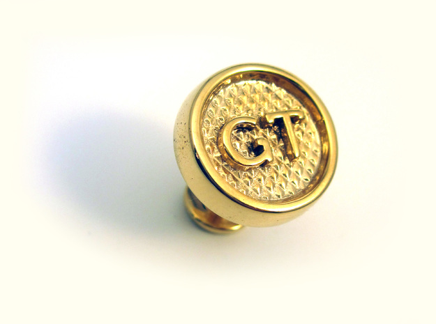 Custom Cufflink #01 in Polished Gold Steel