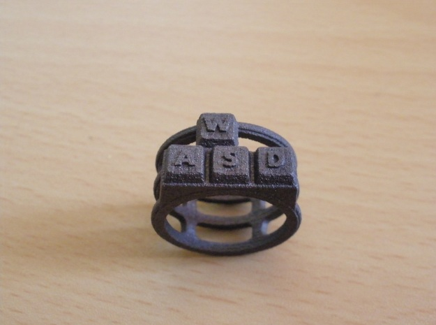 WASD Ring in Matte Bronze Steel: 8 / 56.75