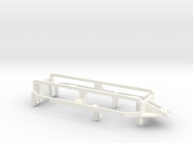 RhB Gm3-3 Rear axles mount in White Strong & Flexible Polished