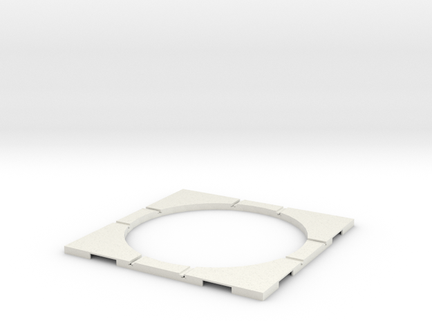T-32-wagon-turntable-105d-100-corners-flat-1a in White Natural Versatile Plastic