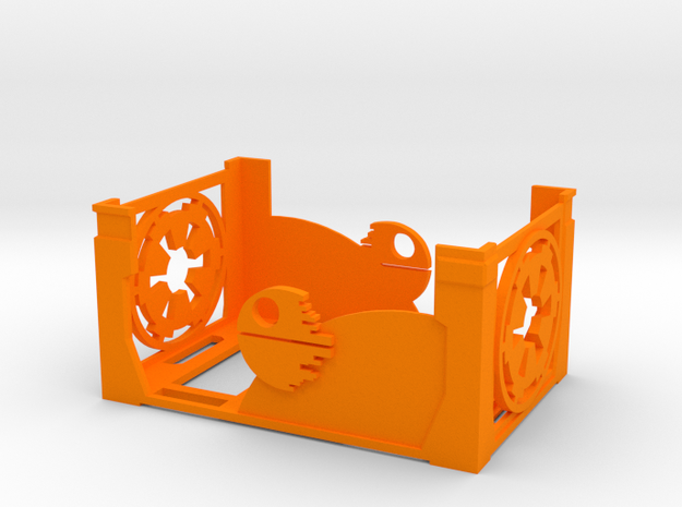 Damage Deck [with out Lid] in Orange Processed Versatile Plastic
