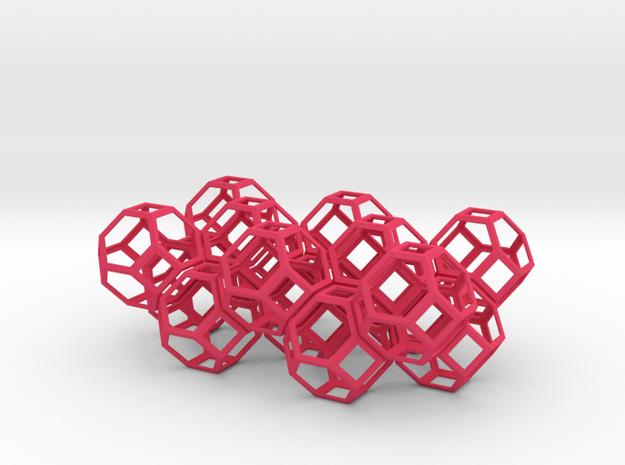 Space filling truncated octahedra 3d printed