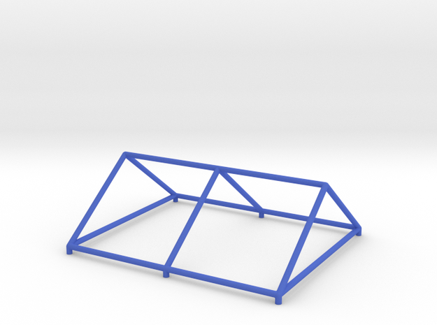 Tent Frame Roof Model in Blue Processed Versatile Plastic