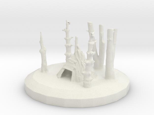 TeePeeRama05 3d Print in White Natural Versatile Plastic