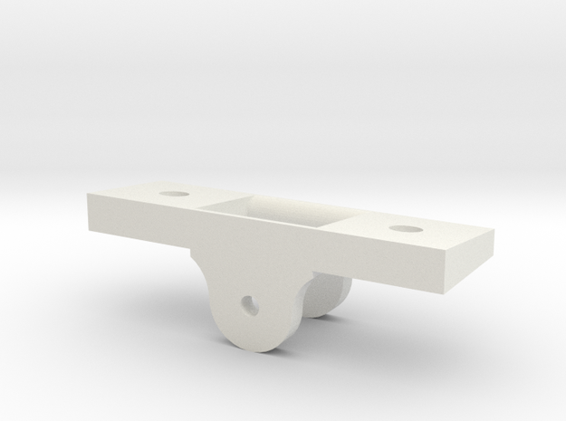 Slide Roller 1/24 scale in White Natural Versatile Plastic