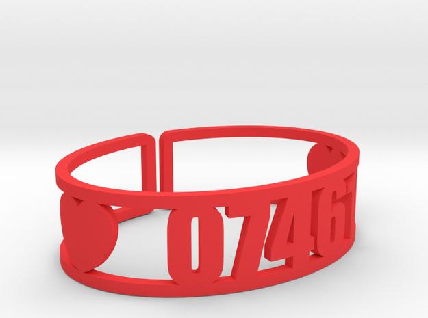 Louemma Zip Code Cuff in Red Processed Versatile Plastic