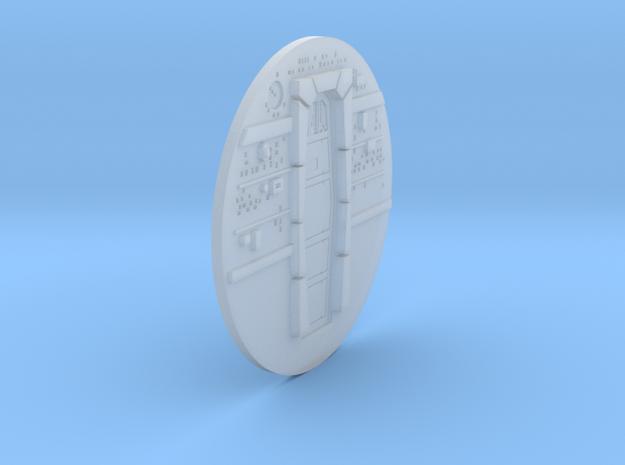 YT1300 FM 1/144 CABIN BACKWALL W DOOR in Smooth Fine Detail Plastic