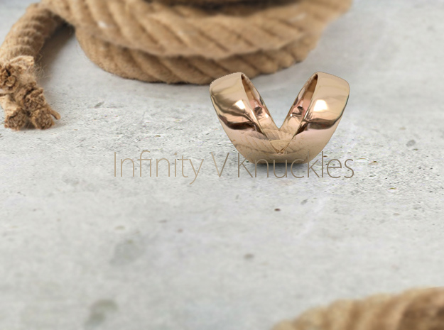 The Infinity V Knuckle Ring