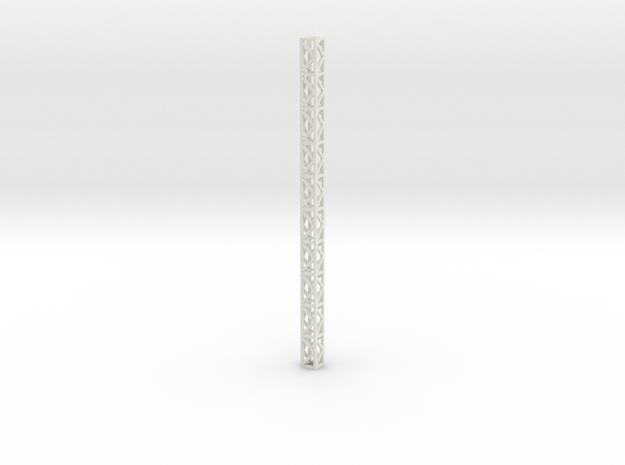 Lattice Frame 20x20x370 in White Natural Versatile Plastic