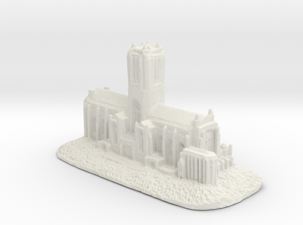 Liverpool cathedral in White Natural Versatile Plastic