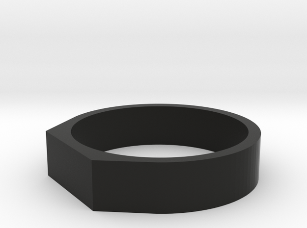 Anello Troco 2 in Black Natural Versatile Plastic