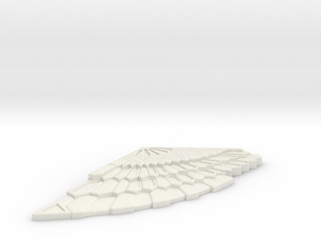 Dr Strange Brooch - Left in White Natural Versatile Plastic