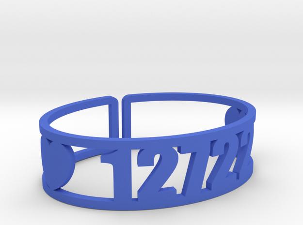 Camp Echo Zip Cuff in Blue Processed Versatile Plastic