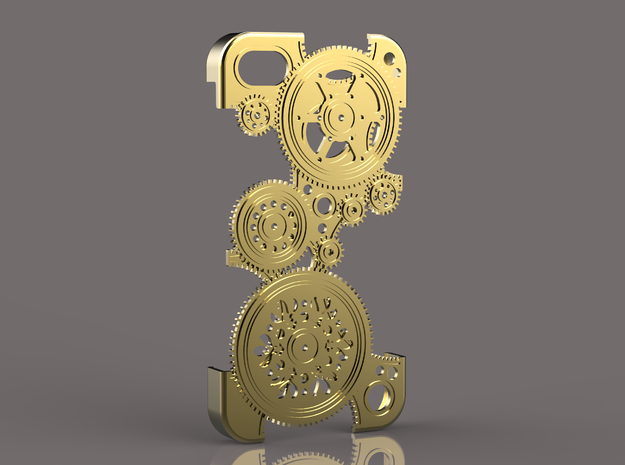 Cogwheels IP5 v.II 3d printed Gold plated