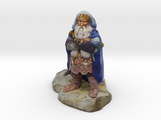 """Dwarf of Oak Shield"" - 4 inches in Full Color Sandstone"
