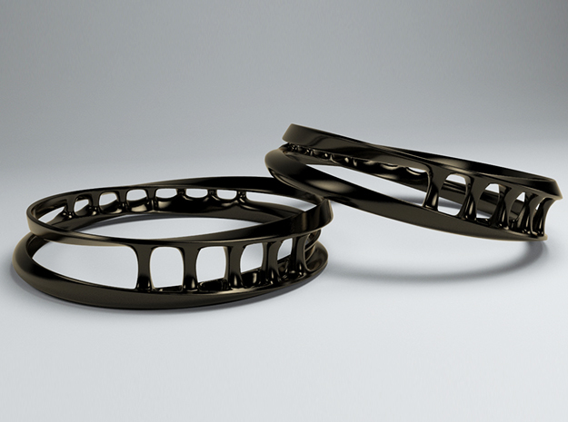 Bracelet 1 in Polished Bronzed Silver Steel