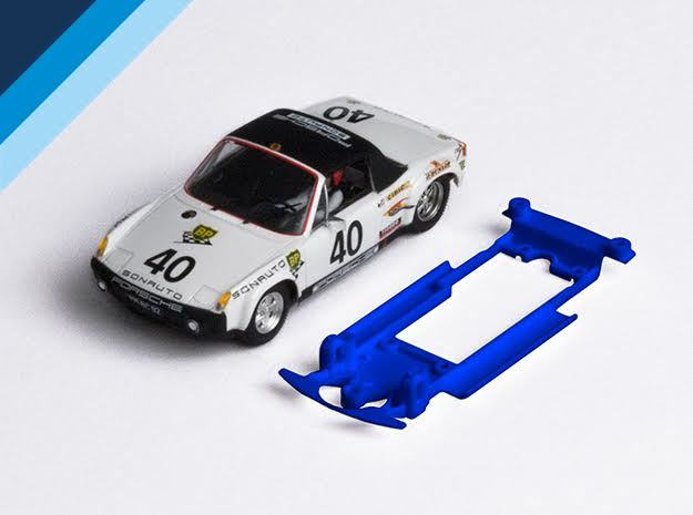 1/32 SRC Porsche 914/6 Chassis for Slot.it SW pod in Blue Processed Versatile Plastic