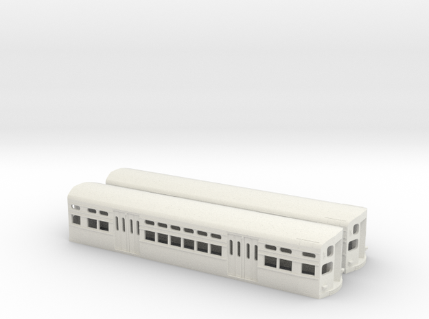 CTA 6000 Series, As-Built Flat Door Pair in White Natural Versatile Plastic