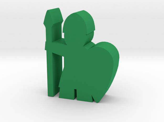 Game Piece, Viking Spearman Long Shield - Large in Green Processed Versatile Plastic