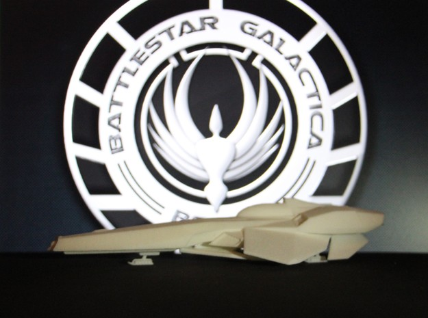 StealthStar Recon Viper Landed (BSG) in White Natural Versatile Plastic: 1:72