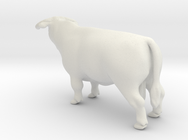 Hereford Bull in White Natural Versatile Plastic
