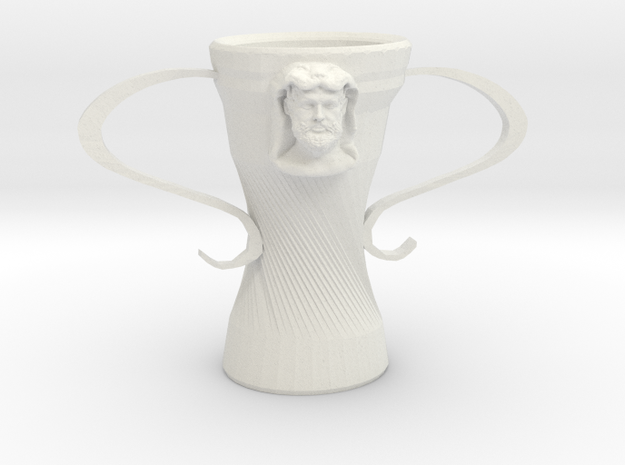 Hercules cup in White Natural Versatile Plastic