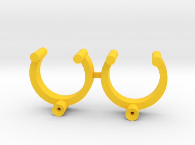 Collector Pins Magnet Adapter - Break Apart Pair in Yellow Processed Versatile Plastic