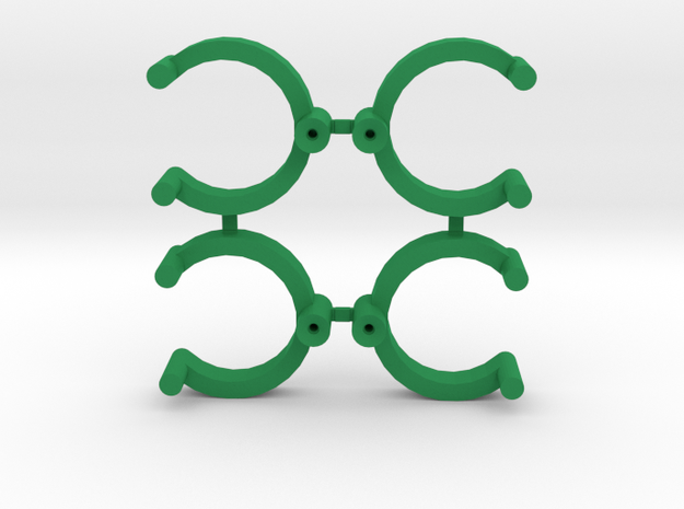 Collector Pins Magnet Adapter Break Apart (4 Pack) in Green Processed Versatile Plastic